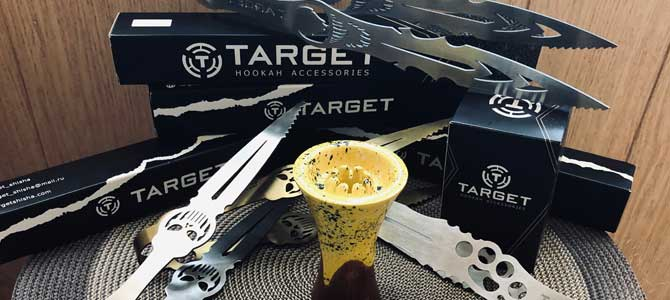 Щипцы для кальяна «Target» и чаша для WTO
